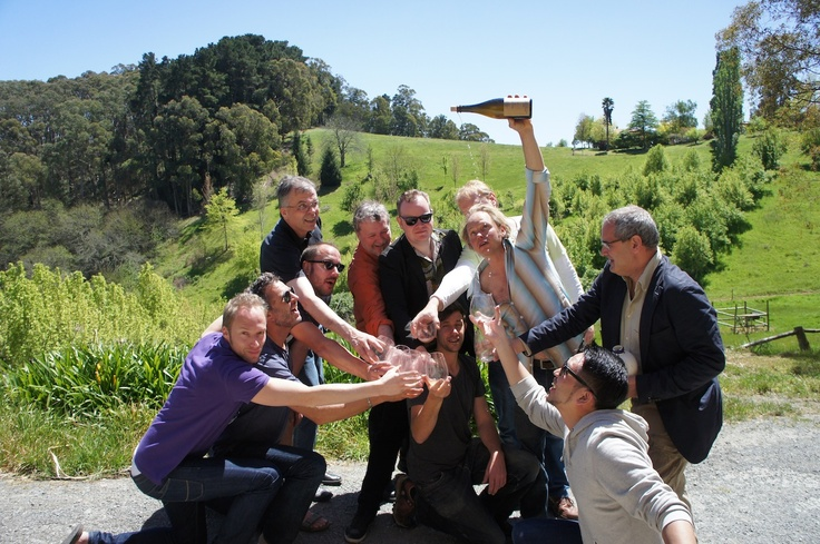 Just your typical tasting with Anton Von Klopper and James Erskine in the Adelaide Hills (on Tim Wildman's James Busby Tour)