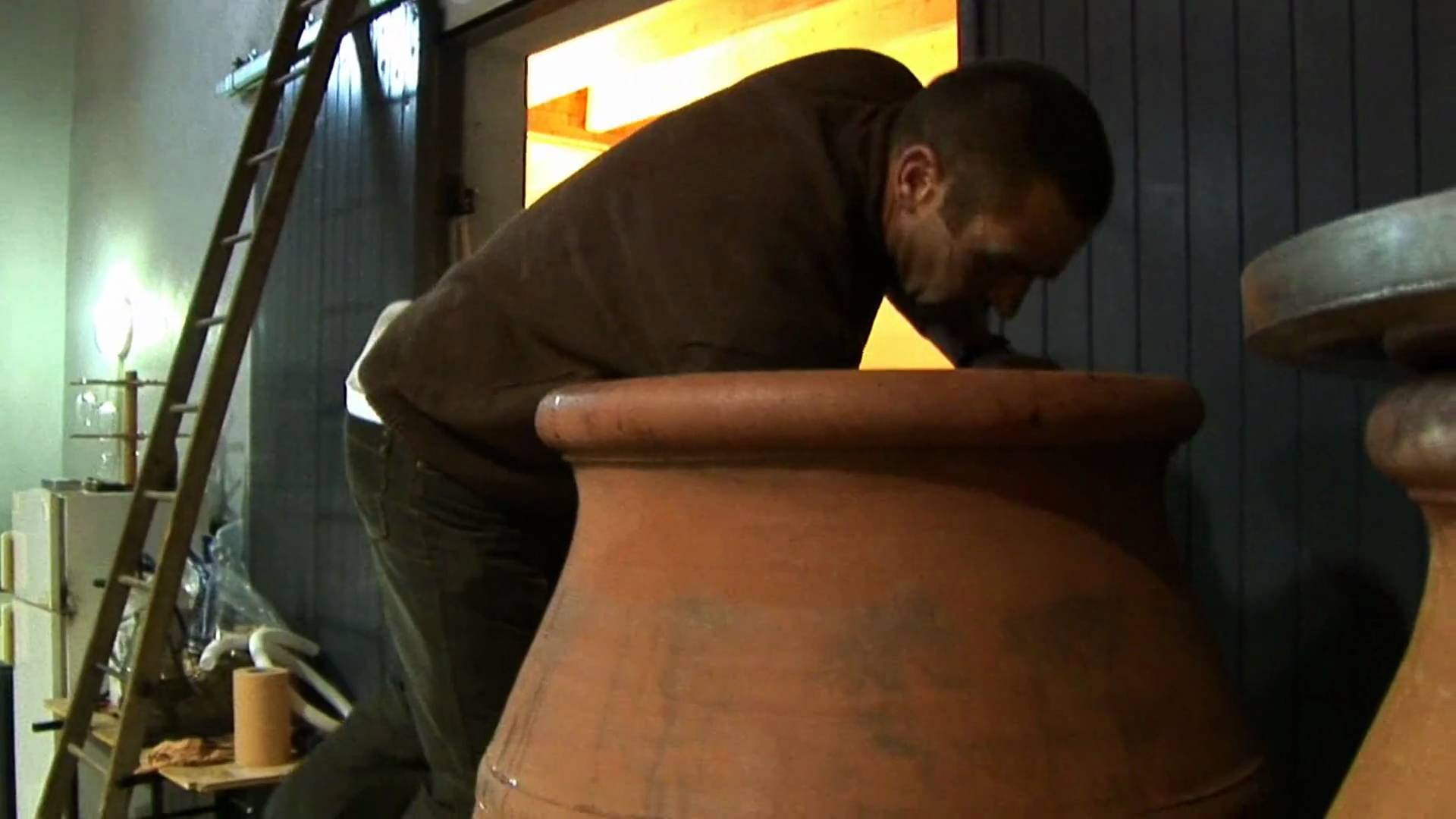 Jean-Claude Lapalu in his amphora