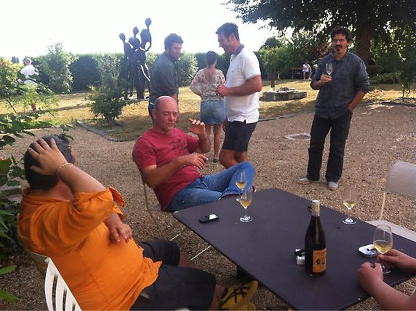 The Les Caves team clearly working hard on a buying trip in the Loire