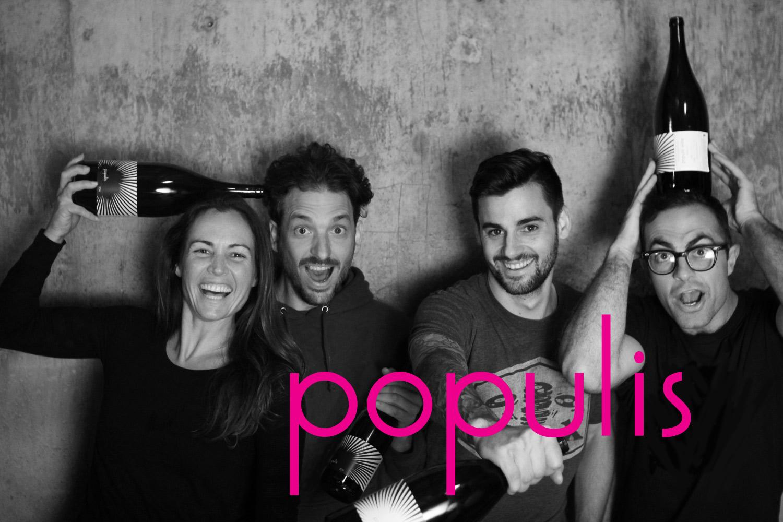populis founders: Martha Stoumen, Diego Roig, Sam Baron & Shaunt Oungoulian. (Photo credit: http://www.populiswine.com/)